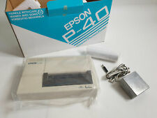 Vintage Epson P-40S Thermal Portable Printer - new, boxed with paper and PSU