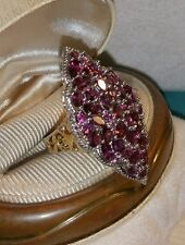 Chuck Clemency NYCII 18k yellow gold/Sterling Silver purple long Amethyst Ring