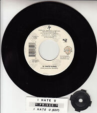 "PRINCE  I Hate U  7"" 45 rpm vinyl record + juke box title strip"
