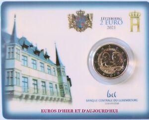 Coincard  BU 2€  LUXEMBOURG 2021 Grand-Duc Jean avec pont Saint Servais 7500 EX
