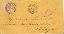 P6266   Treviso, Conegliano, annullo numerale a sbarre + tondo piccolo 18..