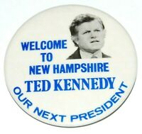 1980 TED KENNEDY Edward EMK campaign pin pinback button political NEW HAMPSHIRE