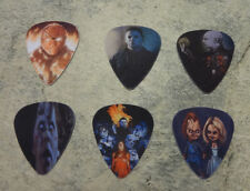One set of 6 Horror Character Single Sided Picture Guitar Picks