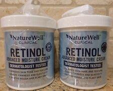 (2) NatureWell Clinical Retinol Advanced Moisture Cream - 16 ounces each jar