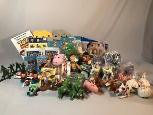 Toy Story Lot Of 55 (toys/plushies/puzzles/pencils/stickers/boxes/puppet)