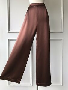 | COUNTRY ROAD | wide leg satin pants chocolate | $199 | NEW | SIZE: 10 |