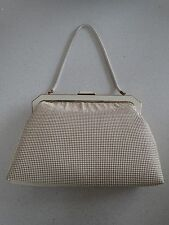 Vintage Oroton White Gold Glomesh Handbag Snake Chain Near New With Original Box