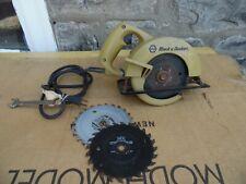 """Black & Decker No 7300 5 1/2 er VTG 5 1/2"""" Compact Circular Saw 5 Amp USA Made"""