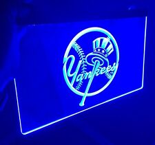 MLB NEW YORK YANKEES LOGO LED Light Sign for Game Room,Office,Bar,Man Cave.