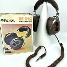 More details for vintage ross re 240 stereo headphones with box