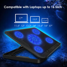 """[5 Fans]Smart USB Powered Laptop Cooling Pad For Macbook Air Pro Retina12""""1"""