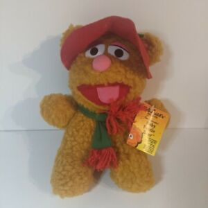 """1988, Jim Henson, Muppet Babies, Baby Fozzie Bear, 8"""", Plush with McDonald's Tag"""