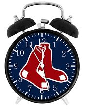 Boston Red Sox Alarm Desk Clock Nice For Decor or Gifts F148