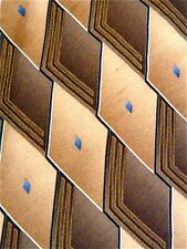 ARROW Golden Brown Diamond Design Men's Designer Necktie Neck Tie Silk Sleeved