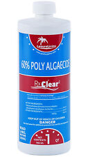 (4 Pack) Rx Clear Algaecide 60 Plus Prevents Algae Swimming Pool Chemical-1 Qt