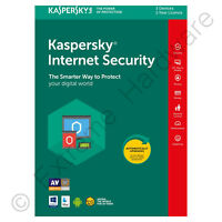 Kaspersky Internet Security 2018 Multi Device 3 Users 1 Year Licence Retail Pack