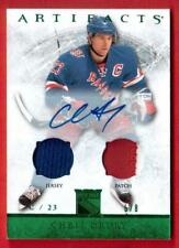 2012-13 UD ARTIFACTS AUTO JERSEY PATCH	 #10	6/8 CHRIS DRURY	NEW YORK RANGERS