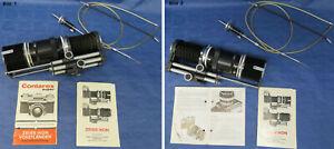 Zeiss Ikon Contarex Balgeneinstellgerät mit Kompendium und Zeiss Tessar 115mm