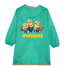 Kid Boy water resist Minions or Car Bib Back to school Apron Art Paint Smock