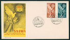 SAHARA FDC 1963 FAUNA VÖGEL FRIEDENSTAUBE TAUBE BIRDS PIGEON DOVE OISEAUX cl31