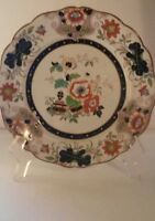 Vintage Asian Handpainted Plate Real Ironstone China Marked / Numbered