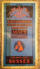 Bartholomews Sussex 1961 Half Inch Map
