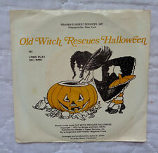 """Wende & Harry Devlin Old Witch Rescues Halloween 7"""" lp,1974,SLEEVE,VERY RARE,NM!"""