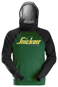 2889 SNICKERS LOGO HOODIE 3904 FOREST GREEN/BLACK VARIOUS SIZES