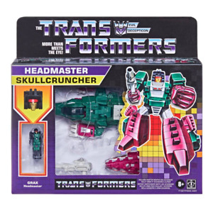 Transformer G1 Retro  Headmaster SKULLCRUNCHER collectible Action Figure IN HAND
