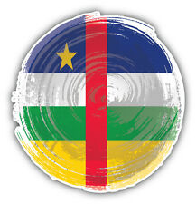 Central African Republic Grunge Flag Car Bumper Sticker Decal 5'' x 5''