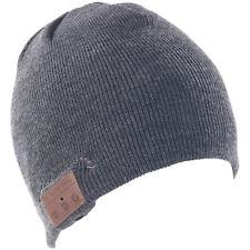 Callstel Beanie-Mütze mit integriertem Stereo-Headset und Bluetooth 4.2, grau