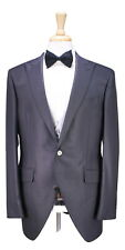 NWT New LUBIAM Solid Gray Peak Lapel 3-Pc Formal Morning Wool Suit 44R