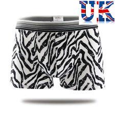"Men's Sexy Zebra Print Boxers **To Fit 32""- 40""**UK Seller**"