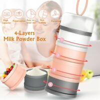 4 Layers Milk Powder Container 50g Baby Feeding Dispenser PP Sealing Formula Box