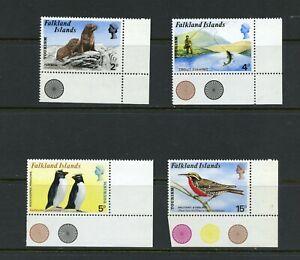 X745 Falkland Islands 1974 Faune Poisson Oiseaux 4v. MNH