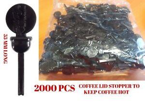 2000 Coffee Lid Stopper Stixtogo Espresso To Go Takeaway Beverage 55 MM Long
