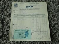 Vintage 1927 OXO Limted Receipt - Kitchen Display Item?