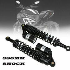 380mm Rear Shock Absorber 14.96in Air Black Suspension Round Type Fit Honda KTM