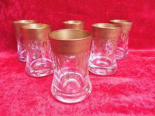 6 edle Gläser__Whisky (Longdrink...)__Murano Mäander__24 Karat vergoldet_!