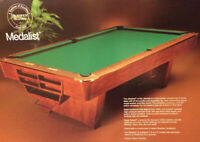 POOL TABLE 9' BRUNSWICK BILLIARDS MEDALIST GULLY THE GAME ROOM STORE NJ 07004