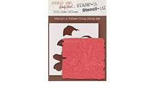 Stamp It Studio 490 Red Rubber Stamp Wide Rose Collage