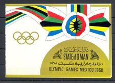 ARABIA OMAN  FOLDER BOOKLET  =GOLDFOLIE  ST. 100 B = OLYMPICS = MEXICO