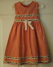 Toddler Girls Red White Checkered Ladybug Dress Sleeveless Size 4T EUC