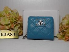 MARC JACOBS Turquoise 'Anabela' Leather French Zip Around Wallet***NWT***$358***