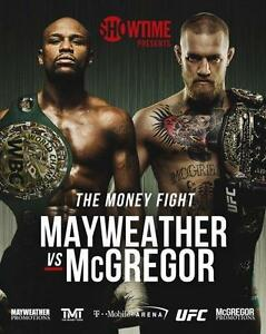 FLOYD MAYWEATHER vs CONOR MCGREGOR Boxing 8 x 10 Glossy Photo Poster Man Cave