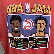 Trae Young Cam Reddish Atlanta Hawks NBA Jam HOMAGE T Shirt NWT New Mens 2XL
