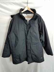 Patagonia Mens Black/Dark Navy Blue Polyester Insulated Winter Parka Size XL