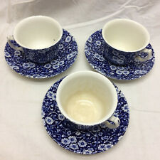 3 Calico Crownford China Cup and Saucers
