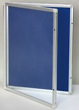 Grey 450x600mm Lockable Commercial Notice Pin Board Showcase With Clear Door E0