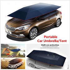 Portable Semi-automatic Outdoor Car Umbrella Sunshade Roof Cover UV Protection